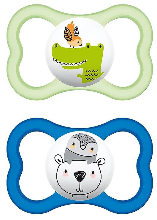 MAM Babyartikel 66217111 - Chupete de latex, colores surtidos, paquete de 2