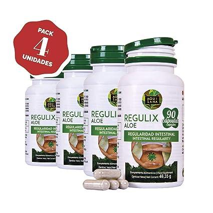 Detox 100% Natural | Aloe Vera | Suplemento Alimenticio Para combatir El Estreñimiento | Pack 4 (360 Cápsulas)
