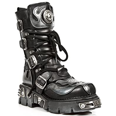 5e4b8f51d Amazon.com | New Rock Boots Unisex Style 107 S2 Silver | Shoes
