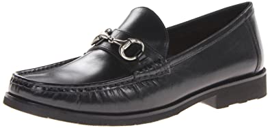 Florsheim Black Smooth Mens Tuscany Bit Loafers