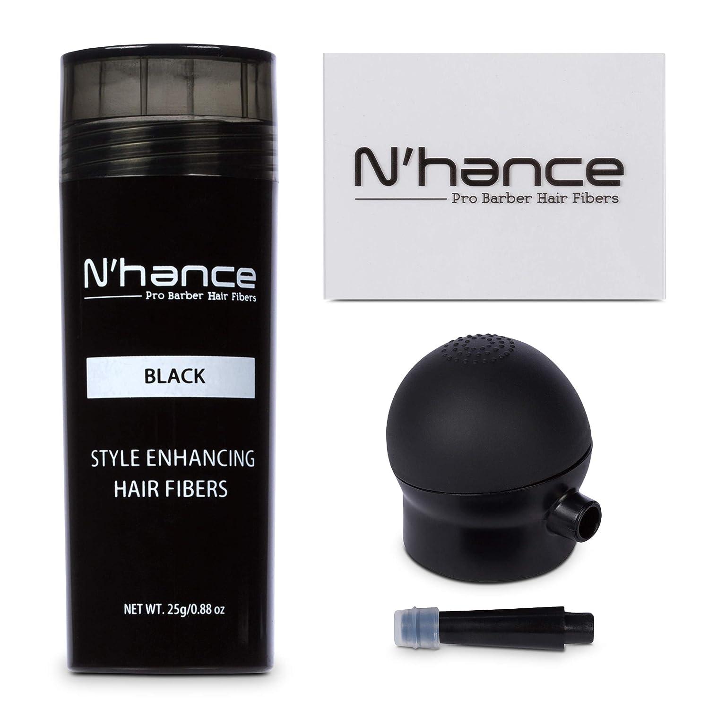 N'hance Pro Barber Hair Fiber Kit + Hold Spray (Medium Brown) The Rich Barber