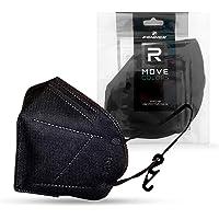 FENNER FFP2 wegwerpmaskers, zwart, elastisch, comfortabel, hoge filtratie, CE-gecertificeerd, 20 stuks