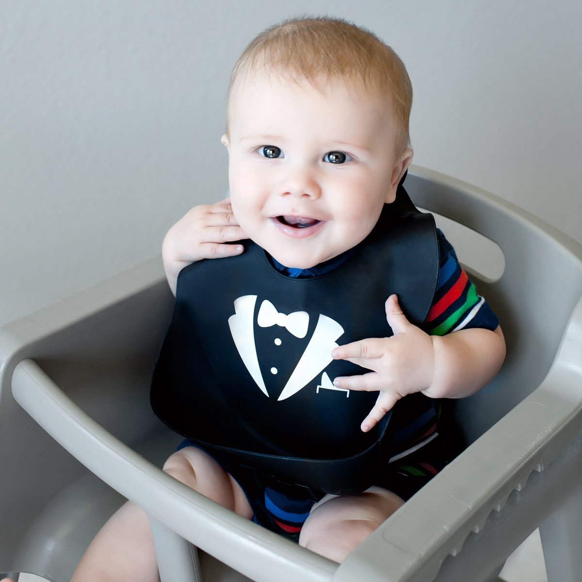 Kids N' Such Baby Bibs for Boys 3 Pack - 100% Food Grade Silicon - Waterproof with Food Catcher - Easy Clean - Anti Bacterial, Anti Microbial, Dishwasher Safe - Cute Designs for Your Baby Boy by Kids N' Such (Image #2)