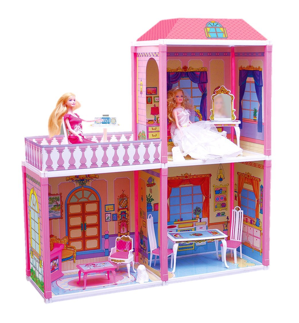 Buy Toyzone My Pretty Doll House, Multi Color Online at Low Prices in India  - Amazon.in