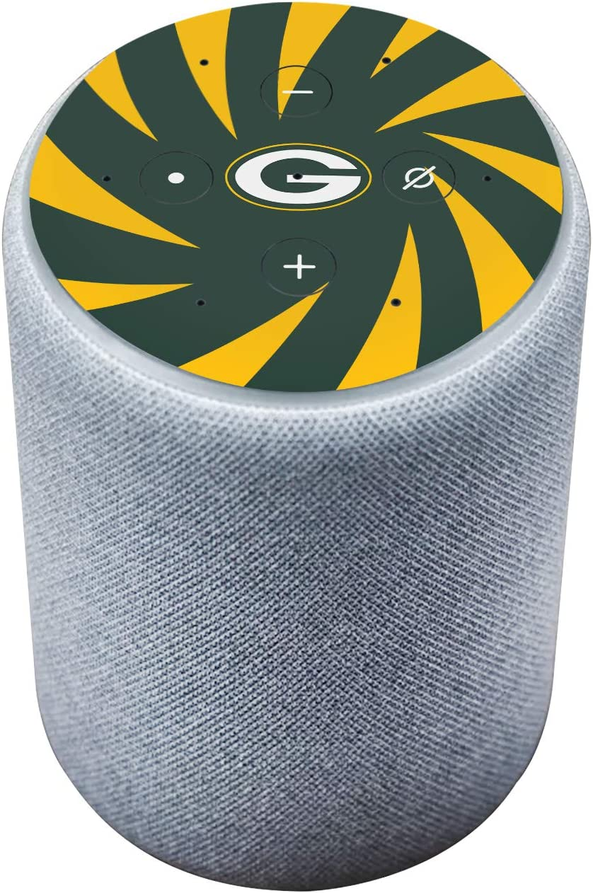 Head Case Designs Officially Licensed NFL Team Colour Stripes Green Bay Packers Matte Vinyl Sticker Skin Decal Cover Compatible with Amazon Echo Plus (2nd Gen)