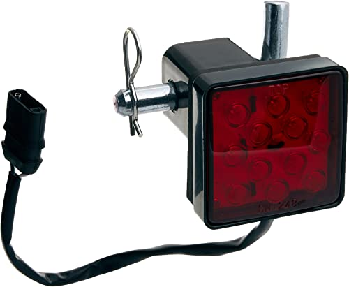 MAXXHAUL 70429 Trailer Hitch Cover with 12 LEDs Brake Light