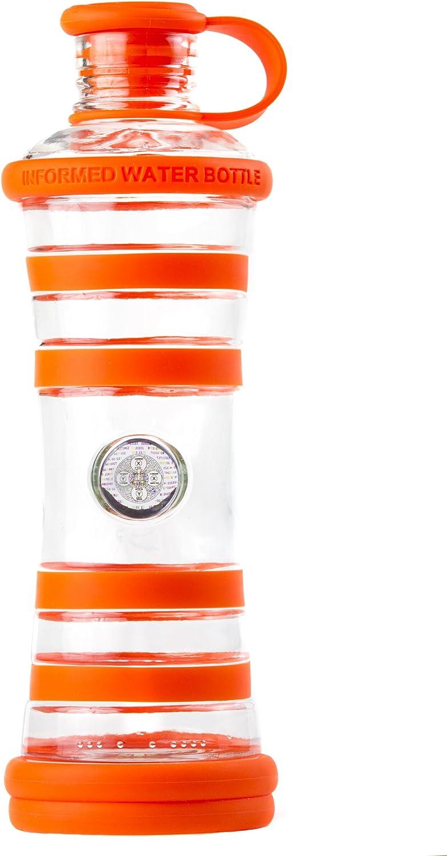 inform/ée et structur/ée jus bouteille en verre sans BPA eau detox - bien-/être Bouteille i9 eau vivante smoothies,..
