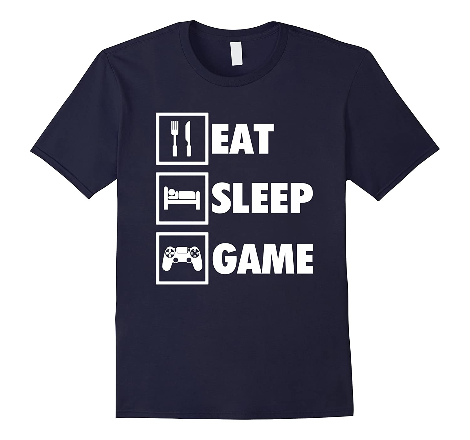 Eat Sleep Game Funny Gamer T-Shirt For Video Game Players-T-Shirt
