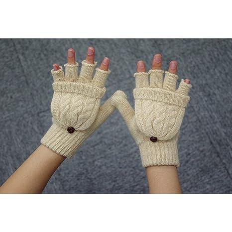 543a36c1dba205 Pixnor Damen Mädchen Winter Halb Handschuhe Winter Wärmer Strick Handschuhe  Gestrickte Fingerlose Fäustlinge mit Flip Top: Amazon.de: Baumarkt