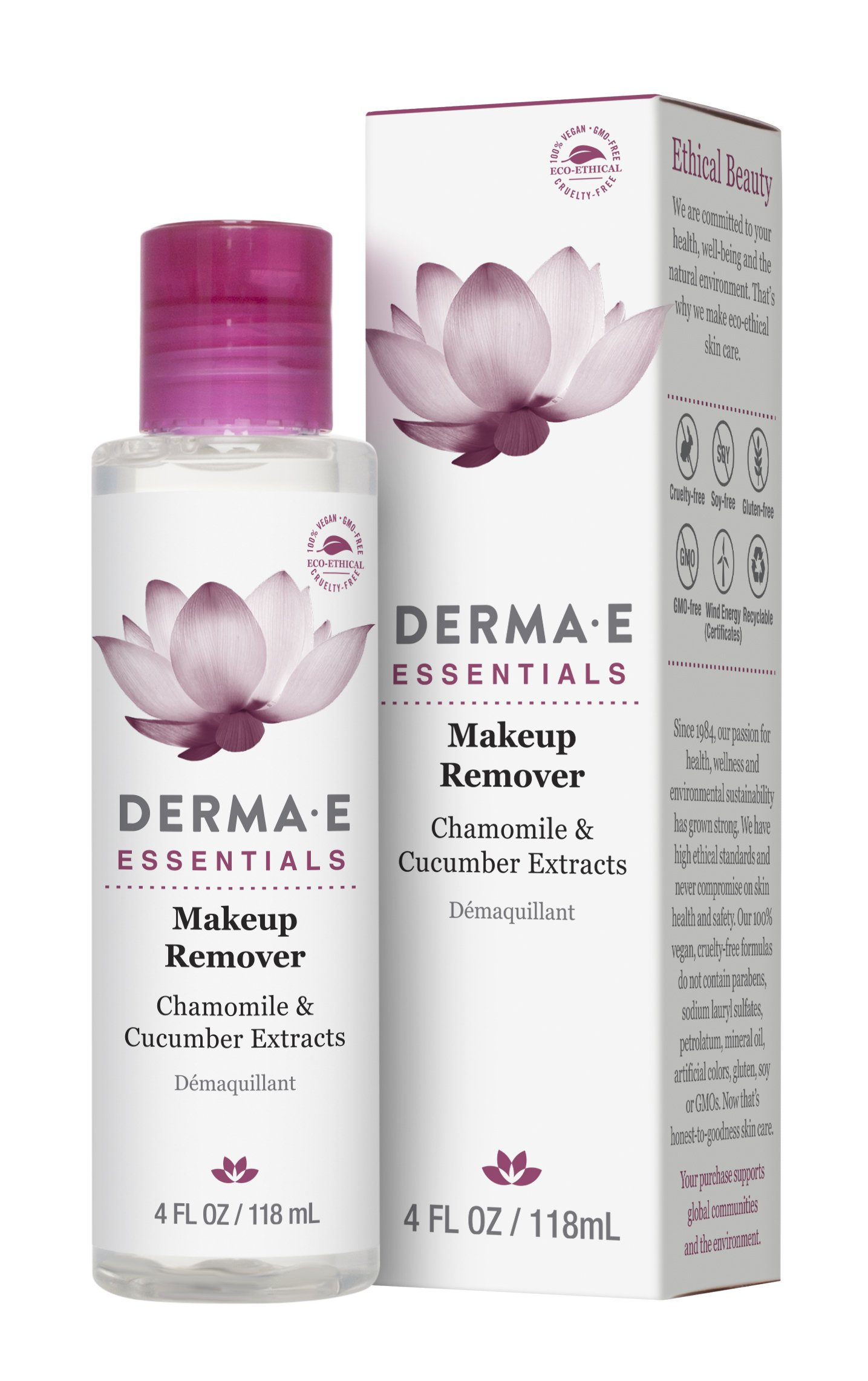 DERMA E Makeup Remover with Chamomile and Cucumber Extracts 4 fl oz by DERMA-E (Image #4)