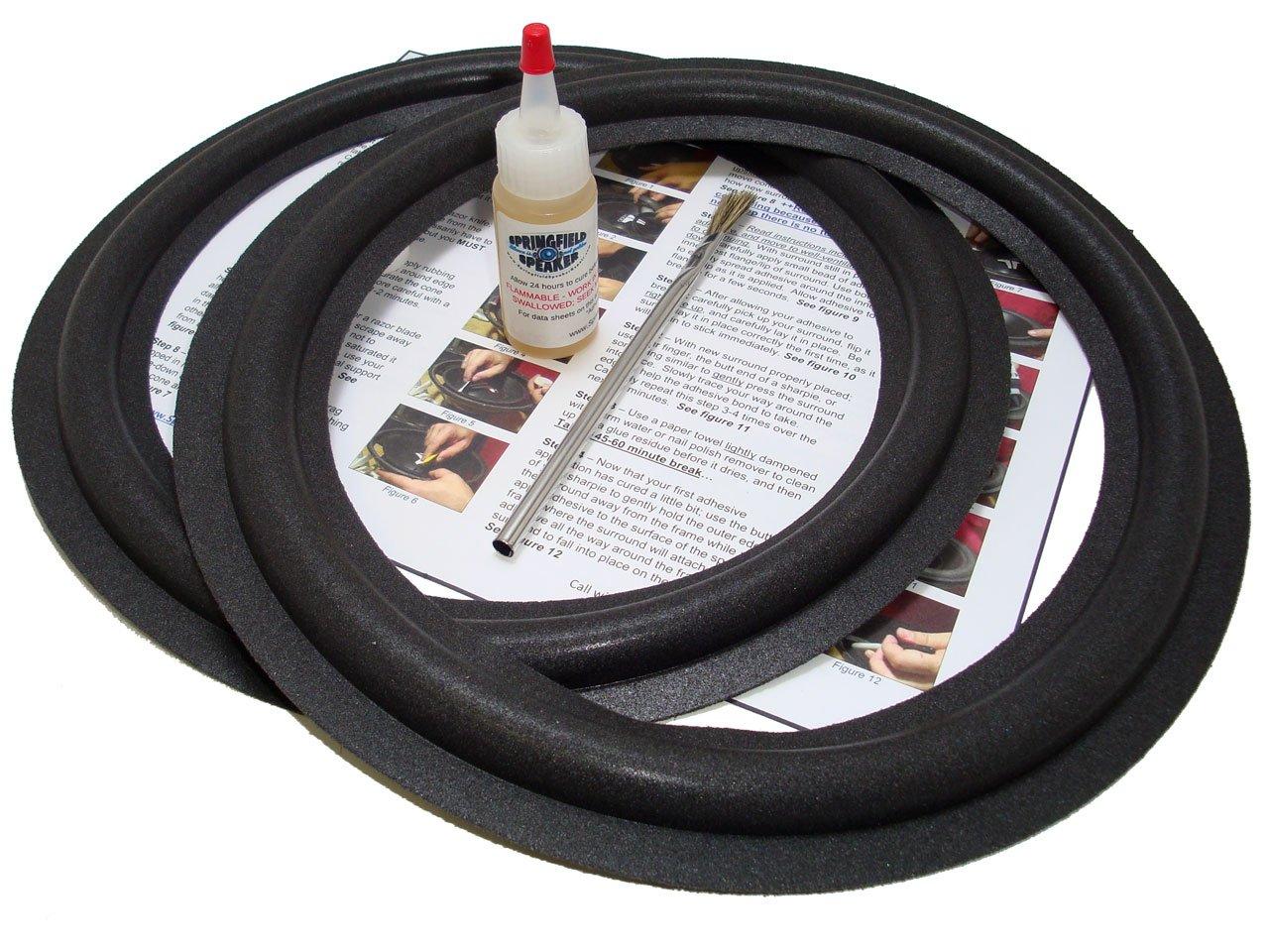 "MK Miller and Kreisel 12"" Speaker Foam Surround Repair Kit - M&K 12 Inch"