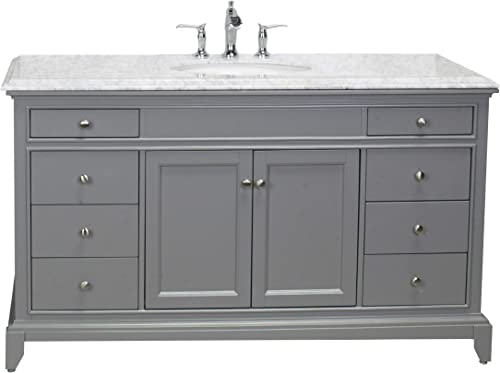 Eviva Elite Stamford 60 inch Gray Single Sink Bathroom Vanity