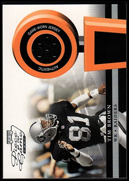 2002 Playoff Piece of the Game Materials #52J Tim Brown Jersey - NM-MT at Amazons Sports Collectibles Store