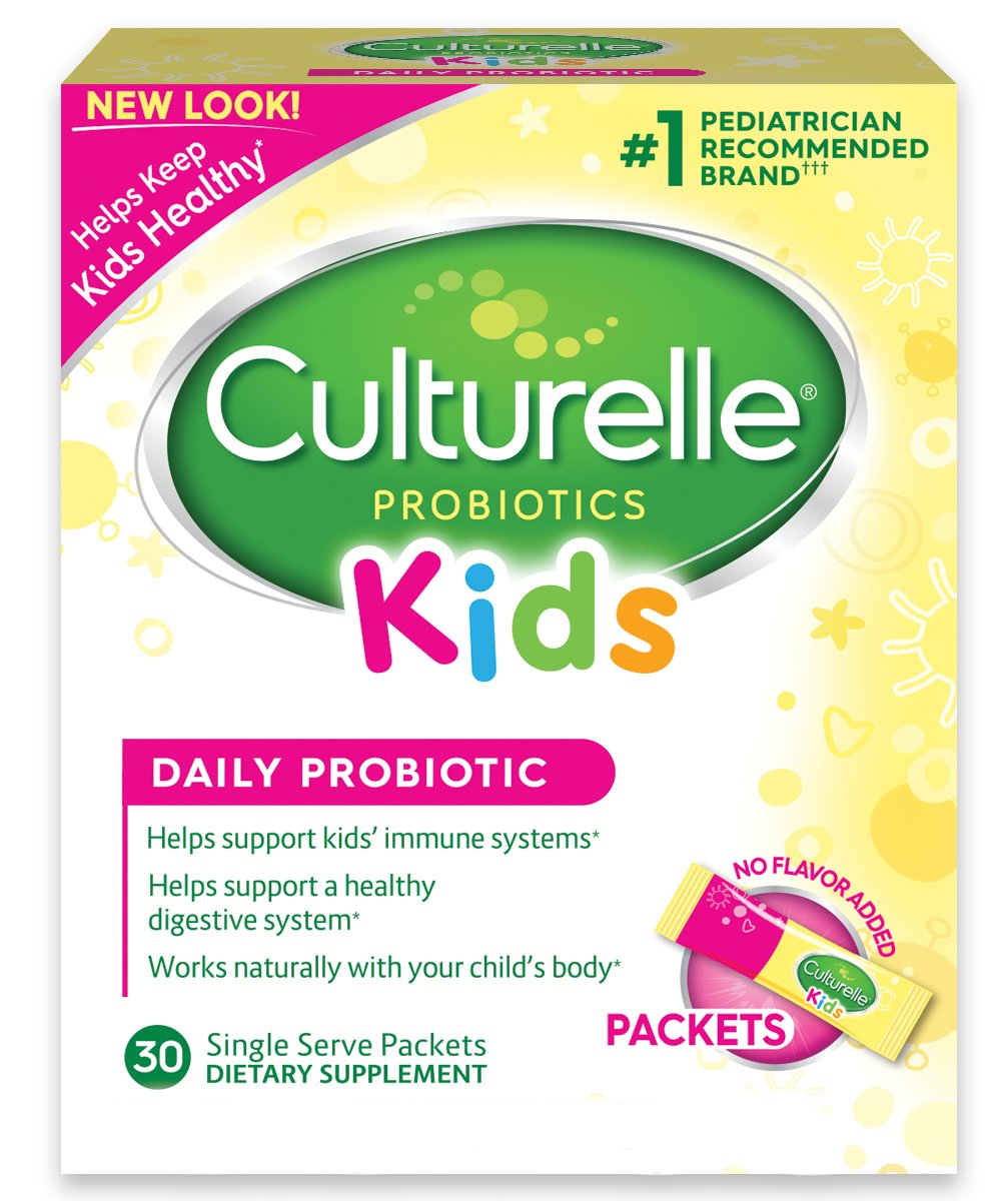 Culturelle Kids Packets Daily Probiotic Supplement | Helps Support a Healthy Immune & Digestive System* | For Children Age 1+ | #1 Pediatrician Recommended Brand††† | 30 Single Packets