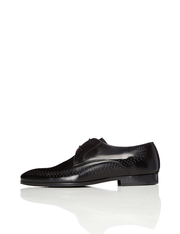 TALLA 42 EU. FIND Zapatos De Cordones con Perforaciones para Hombre