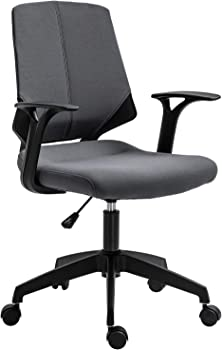 Vinsetto Modern Swivel Office Chair With Adjustable Padded Seat