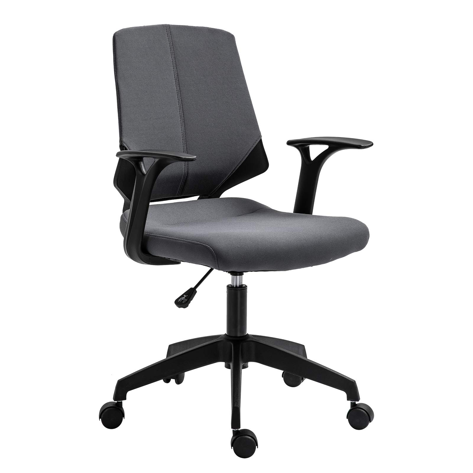 Vinsetto Ergonomic Home Office Chair 360° Swivel Height Adjustable Task Seat