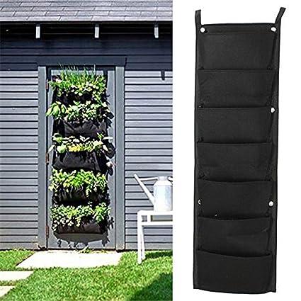 MARGUERAS 7 Pocket Hanging Vertical Garden Planter Indoor/outdoor Herb Pot  Decoration