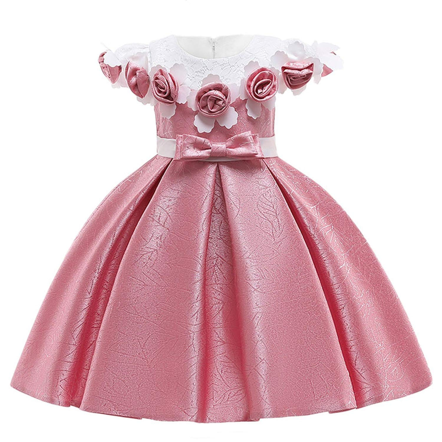 333e568fcdaf1 Amazon.com: Kids Dresses for Girls Dress Summer Elegant Children ...