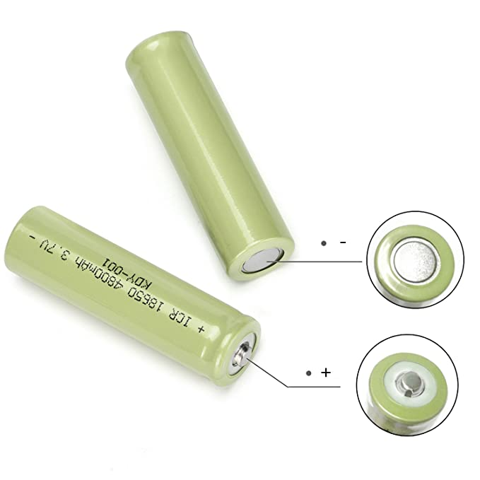 Amazon.com: Elevin(TM) 👍👍 2PCS 3.7V 4800mAH Li-ion ...