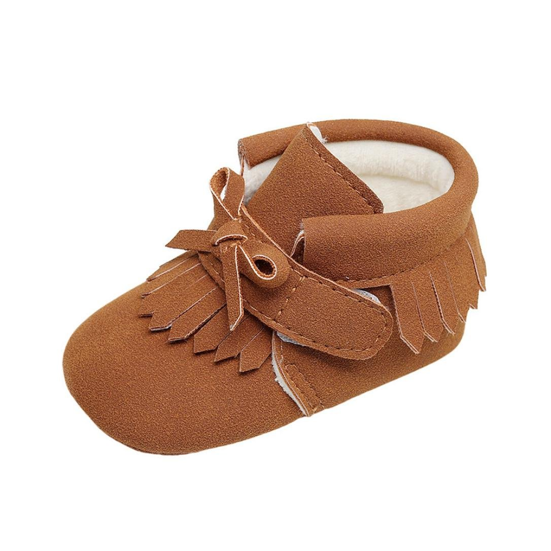 Goodtrade8 GOTD Toddler Newborn Baby Girls Girl Crib Shoes Winter Boots Prewalker Warm Martin