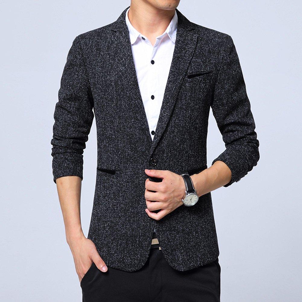 407ef90cb55 Benibos Mens Premium Casual One Button Blazer Slim Fit Coat Jacket  Amazon.co.uk   Clothing