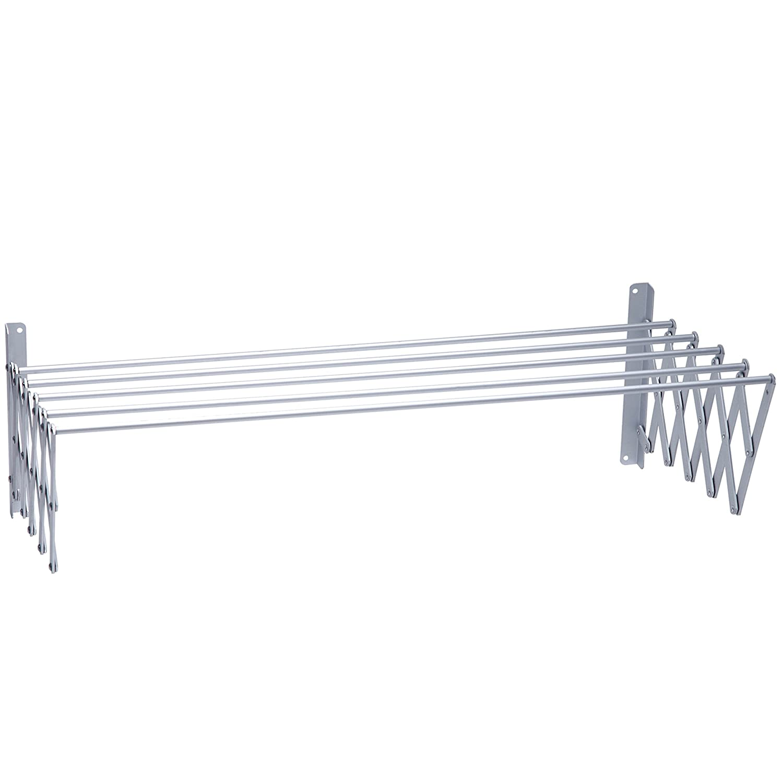 PROTENROP Tendedor Extensible, 1 m, Color Gris, Aluminio, Cromado