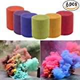 Smoke Cake Color Smoke Effect Smoke Bomb Photography Props for Photography Background Advertising Studio Film Drama Exhibition Parties Sports Rainbow 6 Pcs 6 Colors