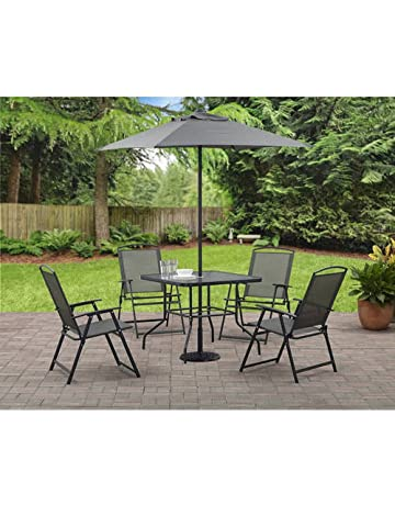 Mainstay Albany Lane Folding Dining Set Includes Table Chairs And Umbrella
