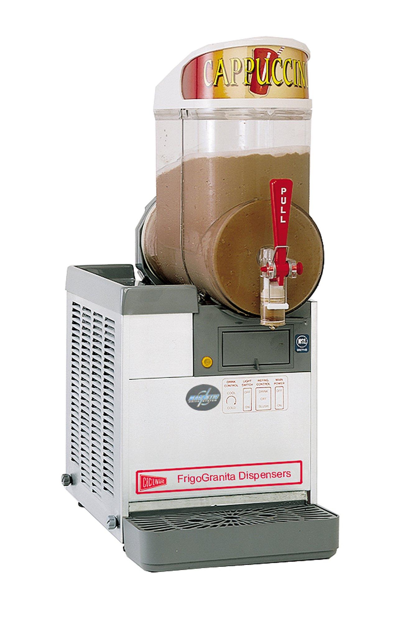 Grindmaster-Cecilware MT1PUL Stainless Steel FrigoGranita 2.5-Gallon Slush Dispenser, Single