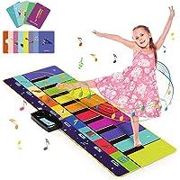 Joyjoz Alfombra Musical de Piano con 100+ Sonidos, Alfombra de Baile 4 Modos, Alfombra de Teclado para Niños…