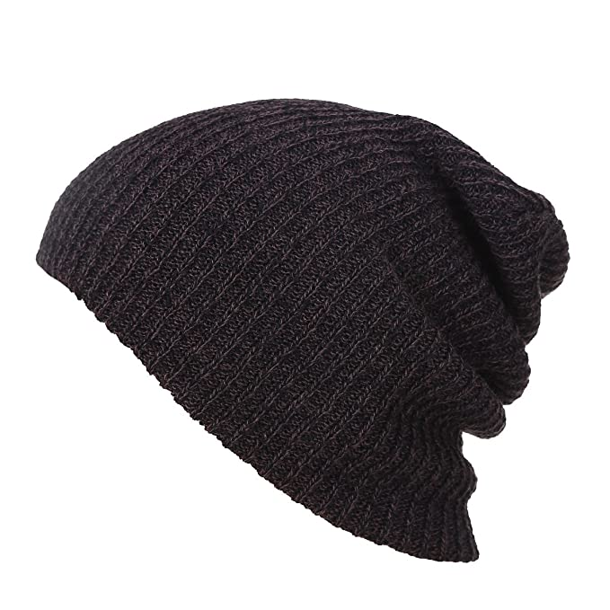 Mens Womens Knit Beanie Skull Cap Winter Warm Slouchy Cycling Hats Earflap  Hood (Black) 2d33740f654b