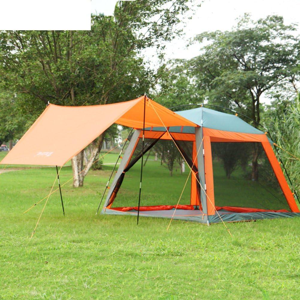 DXG&FX Tienda de Picnic al Aire Libre 3-4Familias con toldo pérgola Camping Sombra Tiendas Respirables-Naranja: Amazon.es: Deportes y aire libre