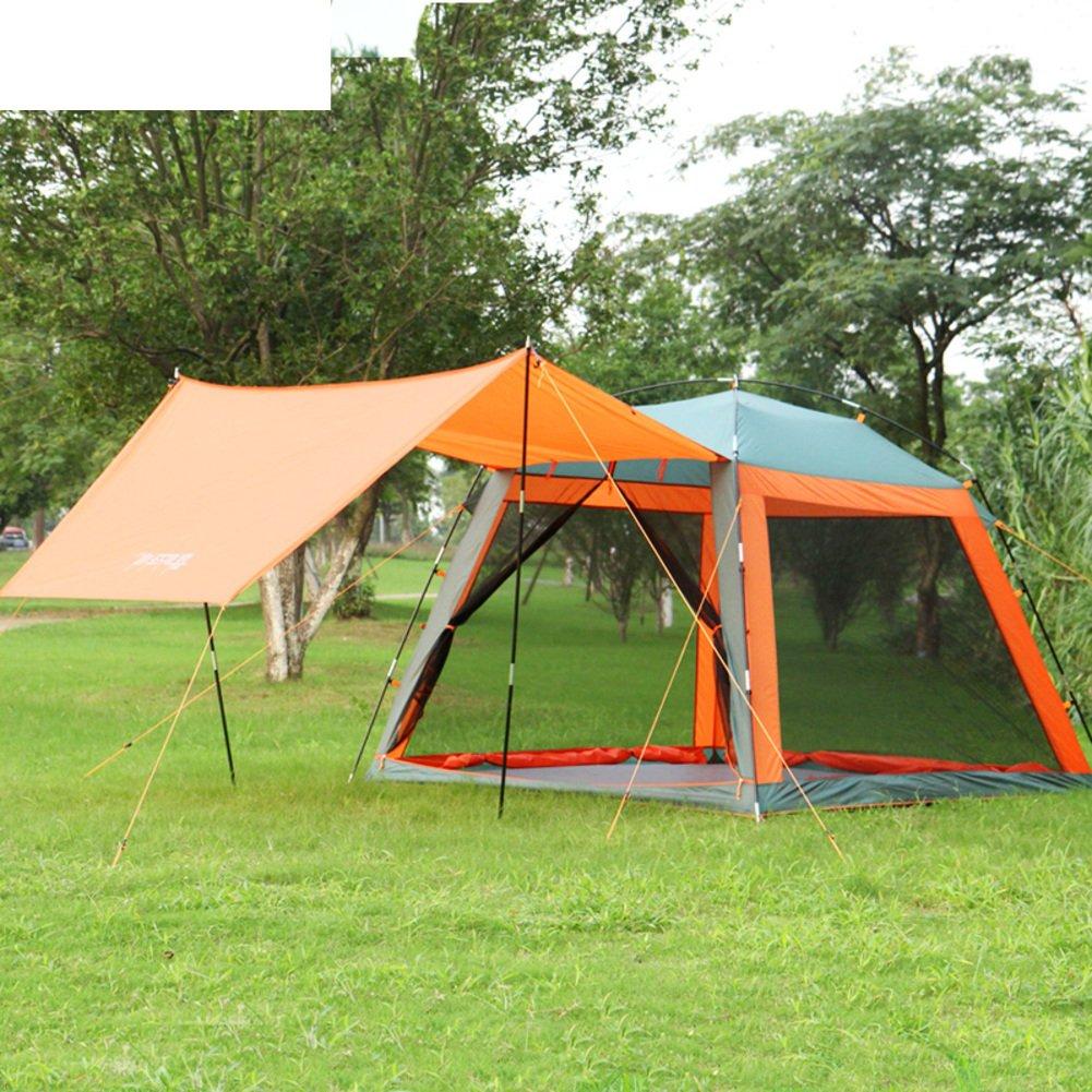 DXG&FX Tente de Pique-Nique en Plein air 3-4Familles avec auvent Pergola Camping Shade Respirants tentes