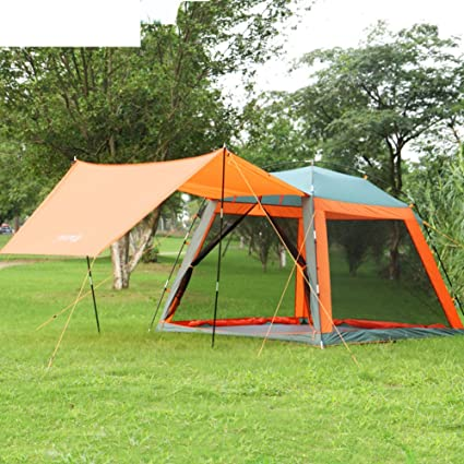 Amazoncom Dxgfx Outdoor Picnic Tent 3 4families With Canopy
