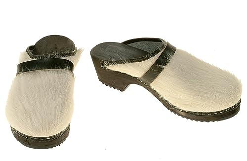 Zapatos blancos Berlin-clogs para mujer AUVgqrL