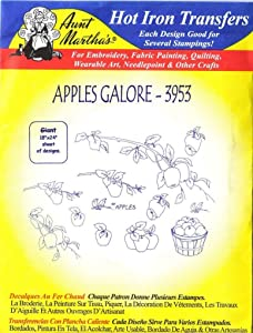 Aunt Martha's, Apples Galore Aunt Martha's Hot Iron Embroidery Transfer
