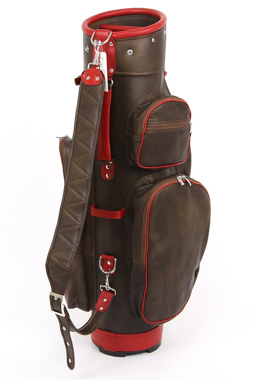 ツェラーゴルフ キャディバッグ ドイツにて完全オーダーメイド 8.5インチ対応 ton-8ziegenleder-15 ボルドー×ベージュ ヤギ革 B01E869I7W