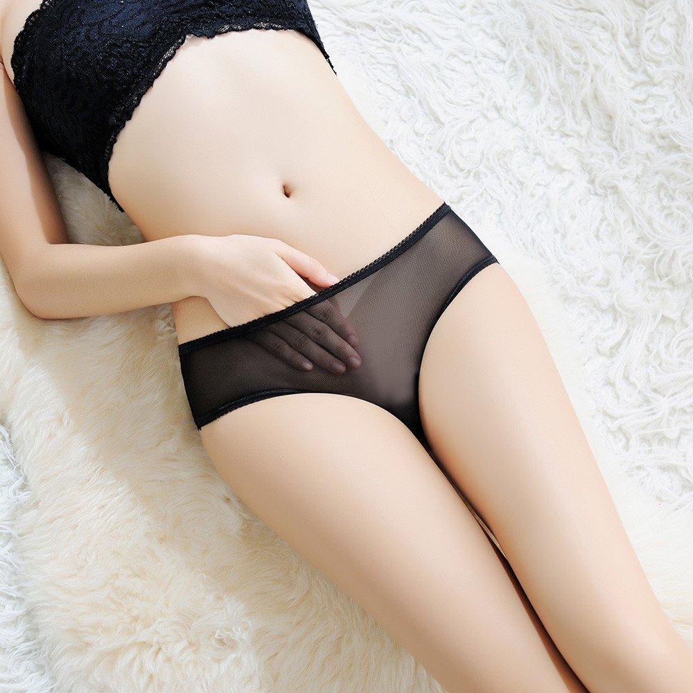 9a3873793 Amazon.com   Ghazzi Sexy Lingerie for Women for Sex Women s Lingerie Open  Crotch Briefs Bow Tie Panties Underwear G-string T String (Black