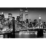 Brooklyn Bridge 36x24 Black and White Photo - Suspension Bridge - East River 24x36 Poster