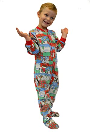 63e214764702 Amazon.com  Big Feet PJs Kids Winter Fun Boys   Girls Footed Pajamas ...