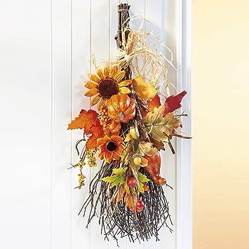 Unbekannt Herbstbesen Deko Idee Herbst Eingangsbereich Haustur
