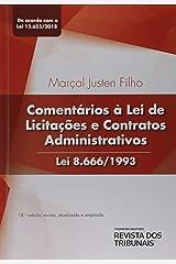 Comentários À Lei De Licitações E Contratos Administrativos Lei 8.666/1993 Capa comum