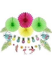 Easy Joy Summer Party Deco Papier Ananas Décoration Tropicales pour Fête Hawaiian Luau Jungle