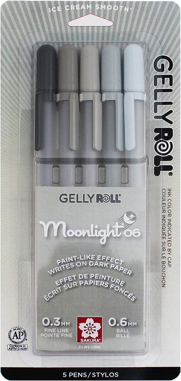Bolígrafos Sakura Gelly Roll Moonlight (5 unidades)
