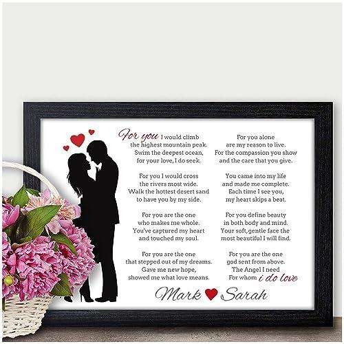 PERSONALISED Keepsake POEM Christmas Gifts Couples Mr Mrs Husband ...