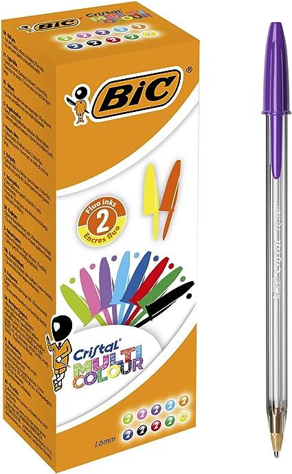 BIC Cristal Multicolor - Caja de 20 bolígrafos, colores fashion y ...