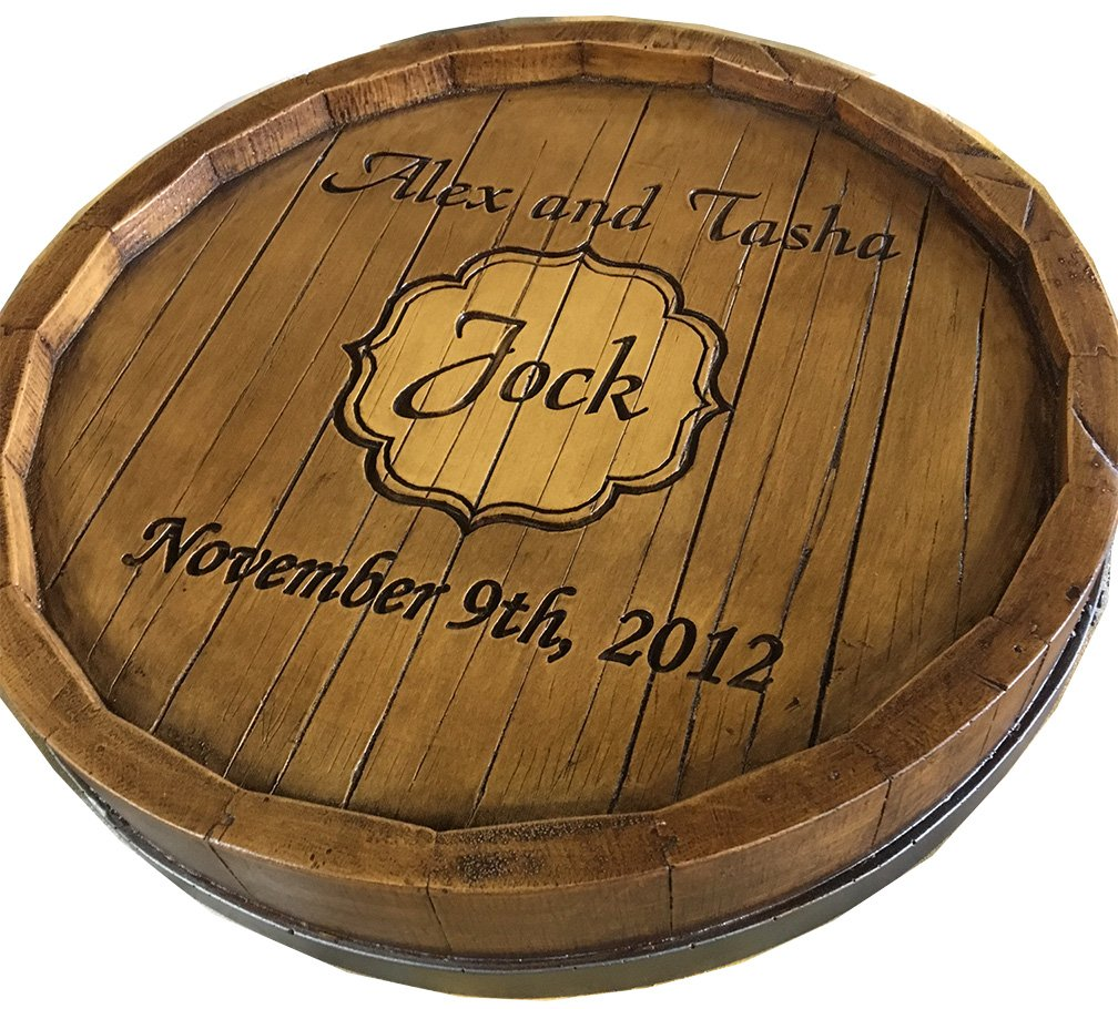 Wine Barrel Monogram and Personalized Lazy Susan by Piazza Pisano (Image #1)
