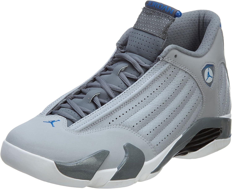 Nike Mens Air Jordan 14 Retro Wolf Grey