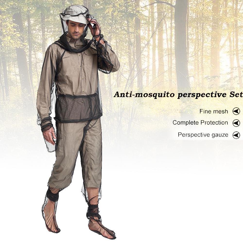 KOBWA Mosquito Suit, Ligero, antimosquitos Repelente de Red de ...